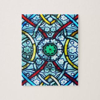 Vitral elegante desafiador Notre Dame París Puzzle Con Fotos