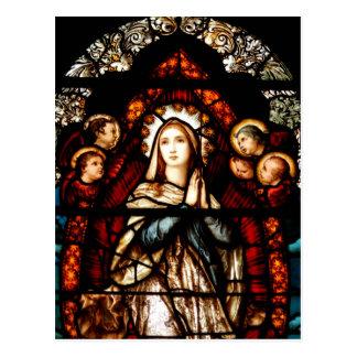 Vitral en el priorato de St Mary, Galway Tarjetas Postales