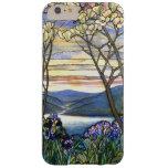 Vitral escénico de la magnolia y del iris funda de iPhone 6 plus barely there