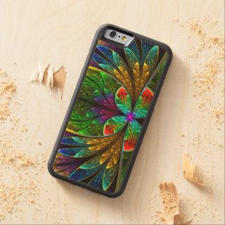 Vitral floral abstracto 1 funda de iPhone 6 bumper arce