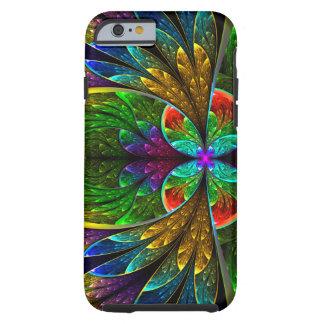 Vitral floral abstracto 1 funda de iPhone 6 tough