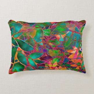 Vitral floral de la almohada del acento