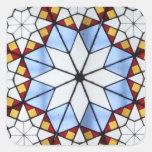 Vitral geométrico colcomanias cuadradass