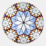 Vitral geométrico pegatina redonda