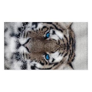 Vitral hermoso impresionante de los ojos azules de tarjetas personales