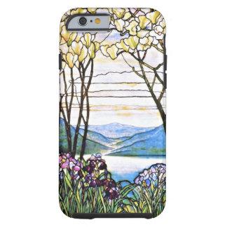 Vitral idílico de Tiffany del paisaje Funda De iPhone 6 Tough
