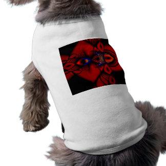 Vitral místico abstracto de rubíes playera sin mangas para perro