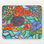 Vitral Mousepad floral Tapete De Ratones