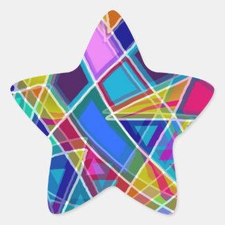 Vitral Pegatina Forma De Estrella Personalizada