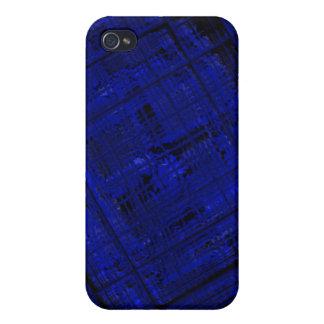 Vitral por satélite en azul intrépido iPhone 4 carcasas