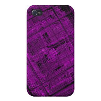 Vitral por satélite en púrpura vibrante iPhone 4 funda