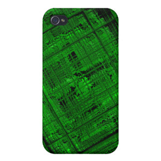 Vitral por satélite en verde claro iPhone 4/4S carcasas