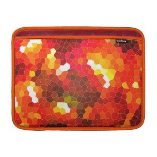 Vitral rojo ardiente funda macbook air