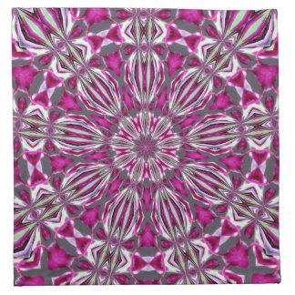 Vitral rosado Kaleidescope Servilletas Imprimidas