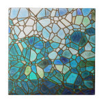 Vitral subacuático de la escena tejas  ceramicas
