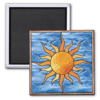 Vitral Sun Imán Para Frigorifico