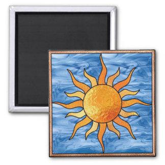 Vitral Sun Imán Cuadrado