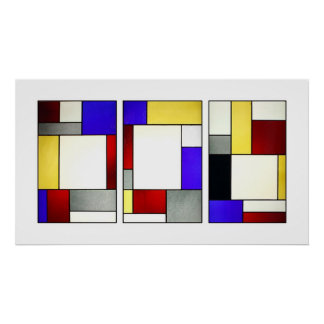 Vitral Tryptych Theo van Doesburg Posters