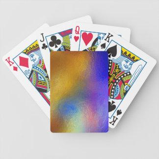 Vitral, ventana brillante colorida transparente barajas de cartas