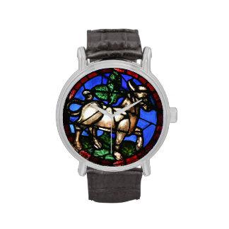 Vitrales de la astrología del tauro - reloj