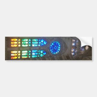 Vitrales del arco iris etiqueta de parachoque