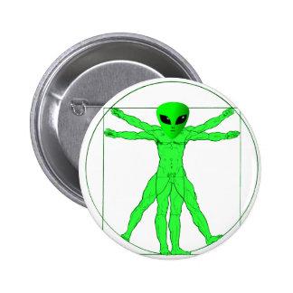 Vitruvian Alien Pinback Button
