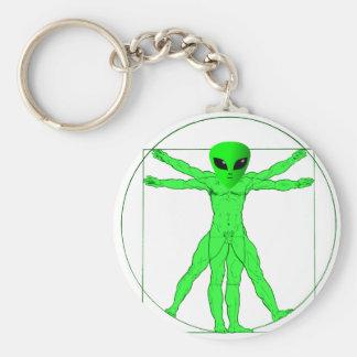 Vitruvian Alien Key Chains