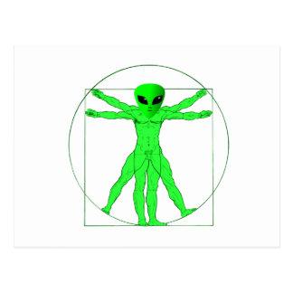 Vitruvian Alien Postcard