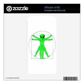 Vitruvian Alien Decal For The iPhone 4