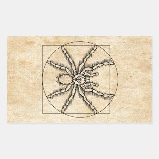 Vitruvian Arachnid Rectangular Sticker