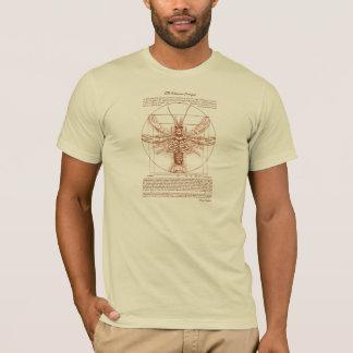 Vitruvian Crawfish Rust Color T-Shirt