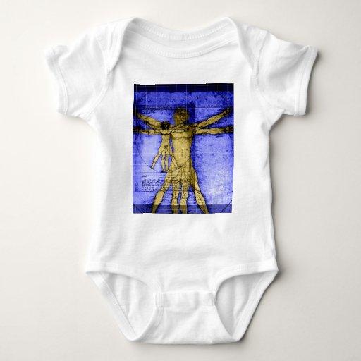 Vitruvian Man Baby Bodysuit