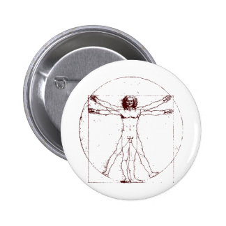 Vitruvian Man BRK Pinback Buttons
