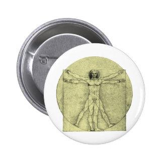 Vitruvian Man Pinback Buttons
