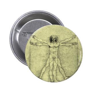 Vitruvian Man Pin