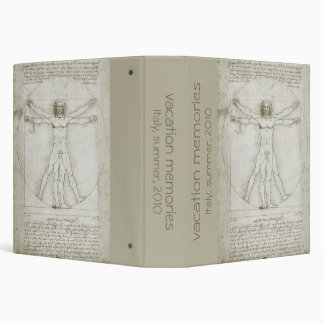 Vitruvian Man by Leonardo da Vinci 3 Ring Binder