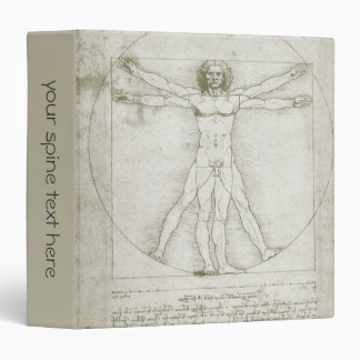 Vitruvian Man by Leonardo da Vinci Vinyl Binder