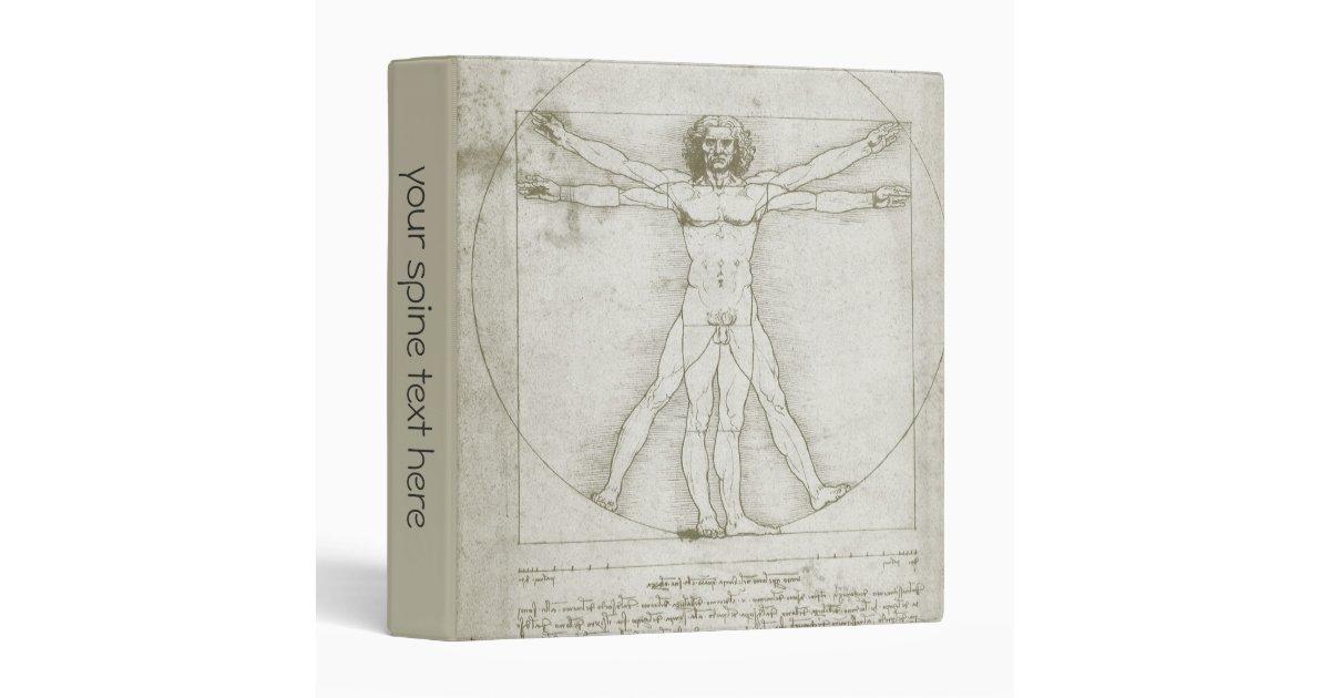 Vitruvian Man By Leonardo Da Vinci Binder Zazzle Com