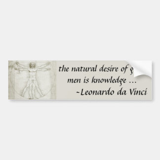 Vitruvian Man by Leonardo da Vinci Car Bumper Sticker