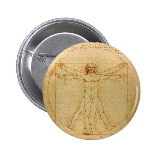Vitruvian Man by Leonardo da Vinci Button