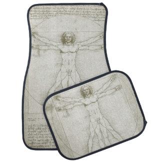 Vitruvian Man by Leonardo da Vinci Car Floor Mat