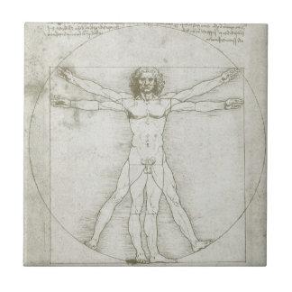 Vitruvian Man by Leonardo da Vinci Ceramic Tile