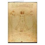 Vitruvian Man by Leonardo da Vinci Greeting Card