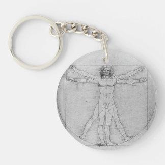 Vitruvian Man by Leonardo da Vinci Key Chain