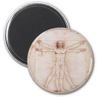 Vitruvian Man by Leonardo da Vinci Fridge Magnets