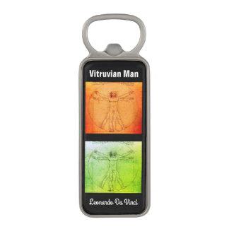 Vitruvian Man By Leonardo Da Vinci Magnetic Bottle Opener