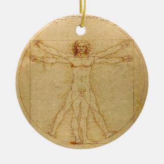 Vitruvian Man by Leonardo da Vinci Christmas Ornaments