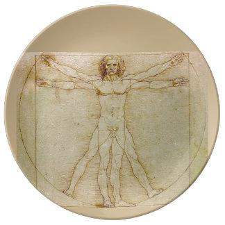Vitruvian Man by Leonardo da Vinci Plate