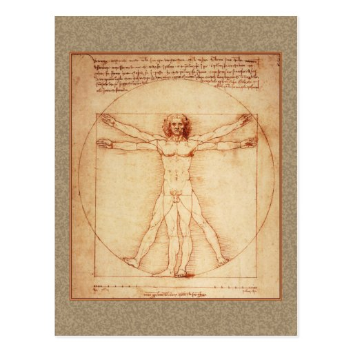 Vitruvian Man by Leonardo da Vinci Post Cards