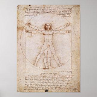 Vitruvian Man by Leonardo da Vinci Posters